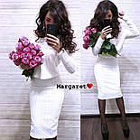 Женский костюм-двойка стежка с юбкой (расцветки), фото 4