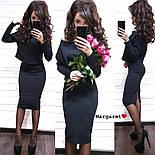 Женский костюм-двойка стежка с юбкой (расцветки), фото 6