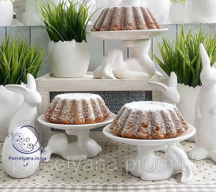 Керамическое пасхальное блюдо Ø20 см кролик-акробат Ewax