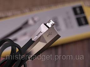 Кабель MicroUSB hoco. X4 Zinc Alloy длина 1.2м, фото 3