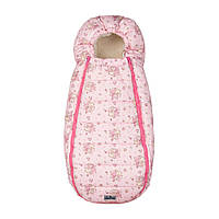 Конверт-Кокон на овчине Baby XS ДоРечі Розовый (Медведик и Мышка), фото 1