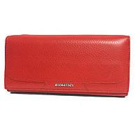 Женский кошелек кожаный на магните Bodenfendy красный, фото 1