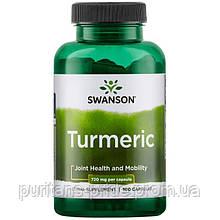 Куркумин, Swanson, Turmeric 720 мг, 100 капсул