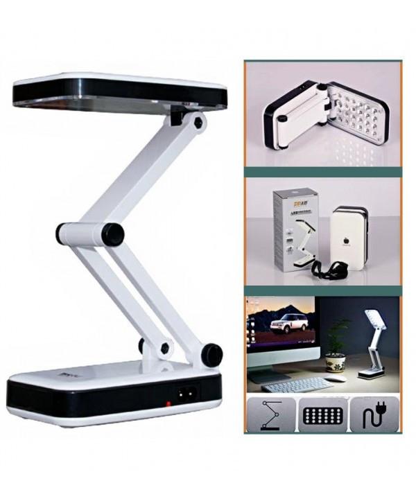 Аккумуляторная настольная лампа трансформер Topwel Белая с черными вставками