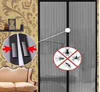 Москитная сетка для дверей на магнитах(210х110) см, Украина