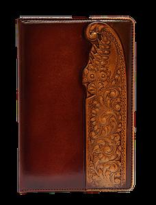 Визитница большая 3-х секционная (натуральная кожа) Мальвы