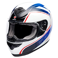 Мотошлем интеграл ISPIDO PULSE color white/red/blue S