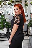 Красивая женская блуза без рукав с кружевом 4 расцв. 42-56р, фото 4