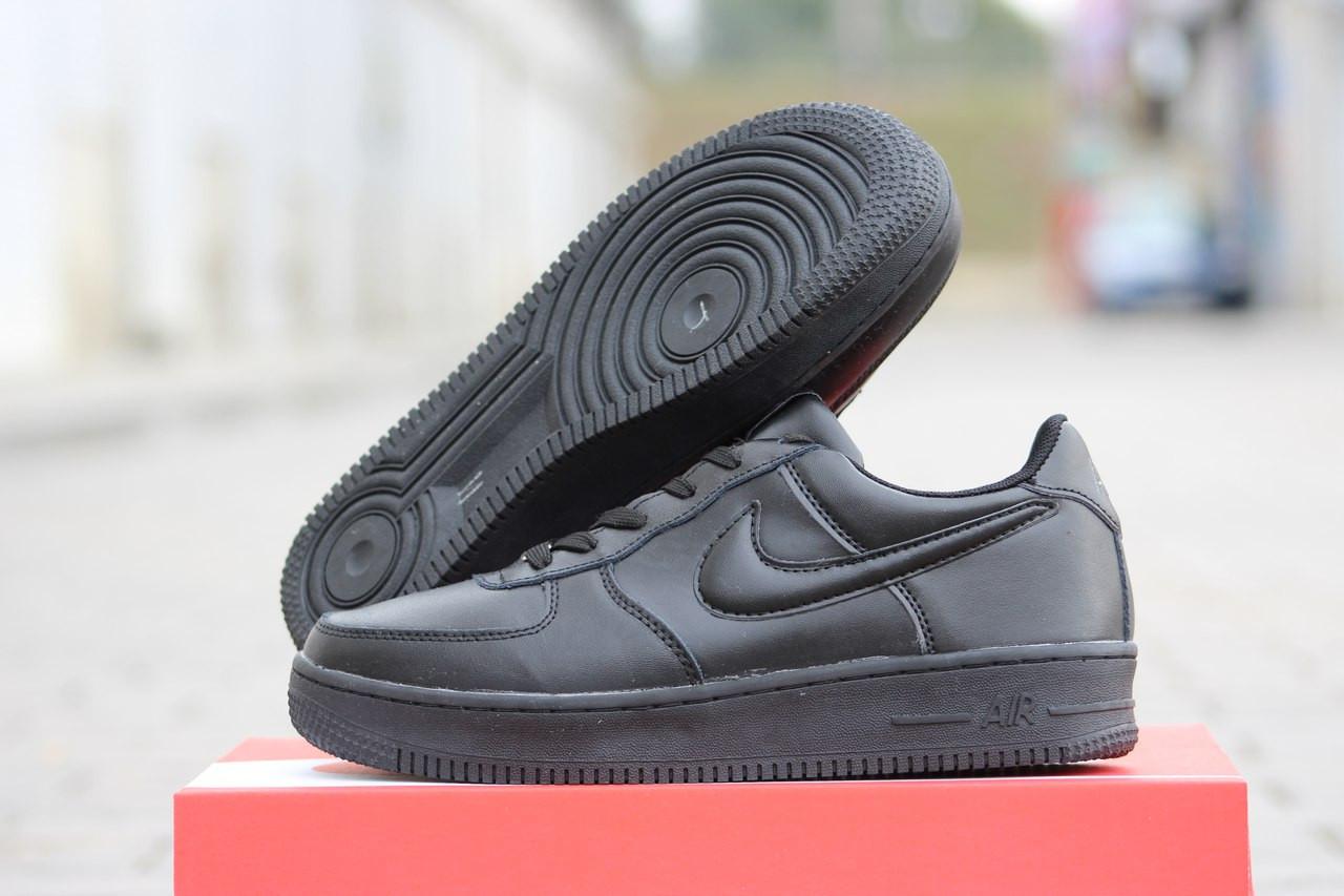 a1d1e21e Подростковые зимние кроссовки Nike Air Force черные 46р - купить по ...