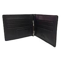 Чоловічий чорний гаманець зажим Cantlor чорний, фото 1