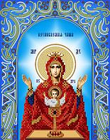 """Схема на ткани для вышивки """"Богородица Неупиваемая чаша"""""""