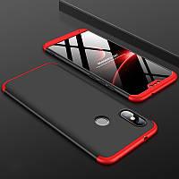 Чехол GKK 360 для Xiaomi Mi A2 Lite / Redmi 6 Pro бампер оригинальный Black-Red