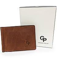 Мужской кошелек зажим кожа GP коричневый, фото 1