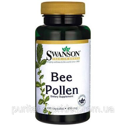 Бджолиний Пилок, Bee Pollen, Swanson, 400 мг, 100 капсул, фото 2