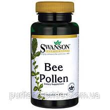 Пчелиная Пыльца, Bee Pollen, Swanson, 400 мг, 100 капсул