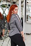 Красивая женская блуза с кружевом 4 расцв. 42-56р, фото 4