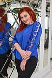 Красивая женская блуза с кружевом 4 расцв. 42-56р, фото 7