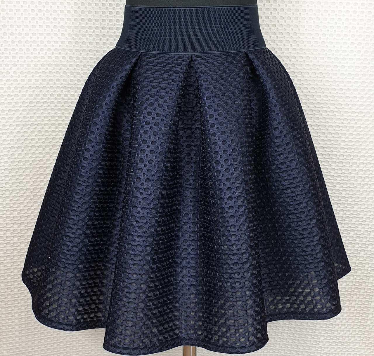 Подростковая юбка для девочки р.152-164 темно-синий