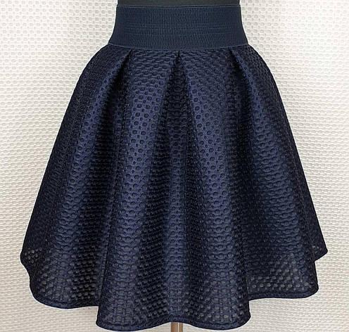 Подростковая юбка для девочки р.152-164 темно-синий, фото 2