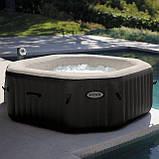 Надувний басейн PureSpa Jet and Bubble Massage Intex 28454 (4-х місць: 3 р/год - 1 741 л/год, гідро), фото 2