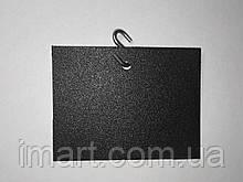 Ценник меловой подвесной 5х5 см s-образным крючком. Грифельная табличка. Для мела и мелового маркера