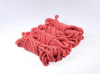 Набор веревок для бондаж 4х8м. 6мм, хлопок. красный