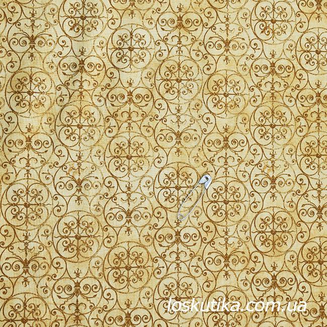 48010 Ткань с геометрическим узором.Ткани для кукол, пэчворка, трапунто, для художественной стежки.