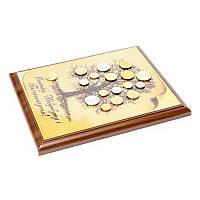 Картина из монет денежное дерево
