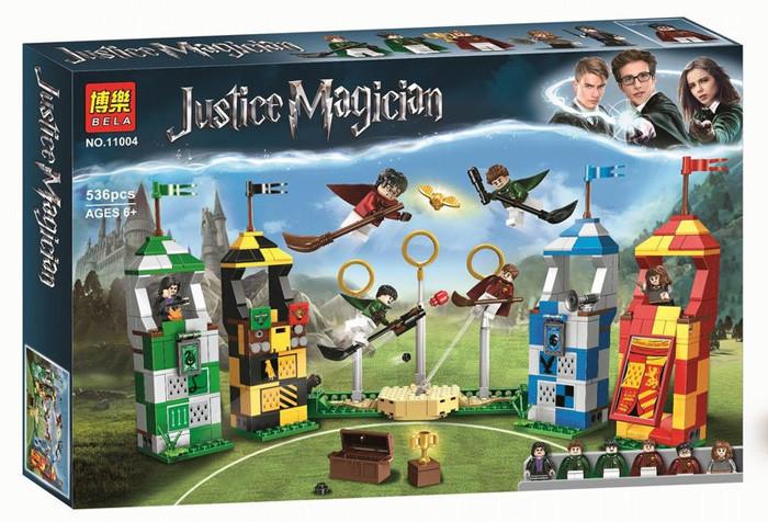 """Конструктор Bela 11004 """"Матч по Квиддичу"""" Гарри Поттер, 536 детали. Аналог Lego Harry Potter 75956"""