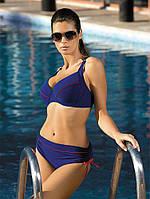 Раздельный женский купальник для большой груди синего цвета