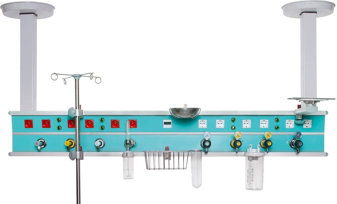 Горизонтальный реанимационный модуль — алюминиевая рейка, подвесного типа