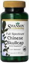 Swanson Chinese Skullcap - Трава Китайская Тюбетейка в капсулах, 400 мг. 90 капсул