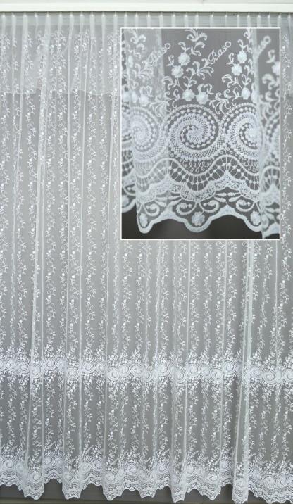Гардина на окна фатин с вышивкой полная высота 3,2 м.(делаем вашу высоту)( обработка сторон + 40 грн.)