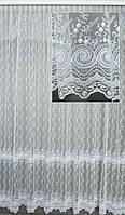 Гардина на окна фатин с вышивкой полная высота 3,2 м.(делаем вашу высоту)( обработка сторон + 40 грн.), фото 1