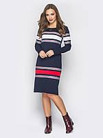 Женское с длинными рукавами и горизонтальными вставками тесьмы Modniy Oazis  синий 90337 7e5f9b7d3670c