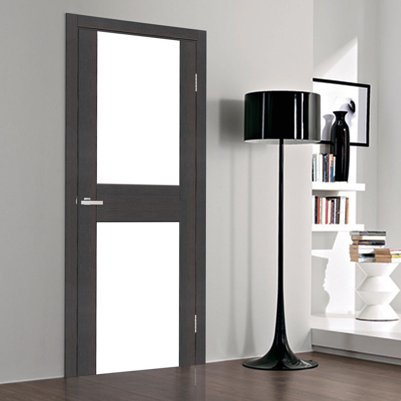 Дверное полотно Cortex Gloss 03 triplex молочный Wenge