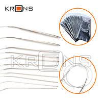 Спицы 11шт набор круговые на леске для вязания 1.5-5мм 80см сталь