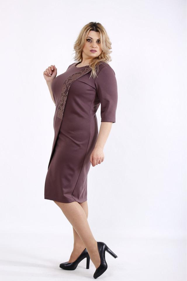 09e0a4223b2b976 Женское трикотажное платье с вырезом бисквитного цвета 01080 ...