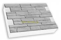 """Термопанели SunRock  """"Римская кладка"""" 600х400х50мм Минвата 145кг/м.куб 50мм, Белый цемент"""