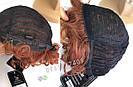🧡  Женский рыжий кучерявый короткий парик из натуральных волос 🧡, фото 6