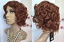 🧡  Женский рыжий кучерявый короткий парик из натуральных волос 🧡, фото 2
