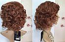 🧡  Женский рыжий кучерявый короткий парик из натуральных волос 🧡, фото 5