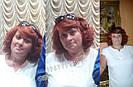🧡  Женский рыжий кучерявый короткий парик из натуральных волос 🧡, фото 7