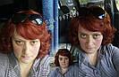 🧡  Женский рыжий кучерявый короткий парик из натуральных волос 🧡, фото 8