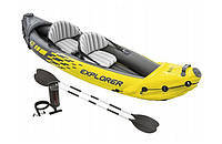 Туристическая надувная лодка Intex 68307 Explorer K2 , фото 1