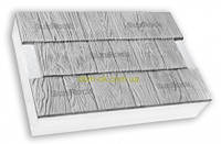 "Термопанели SunRock  ""Щепа"" 600х400х50 мм/ Минвата 145кг/м.куб 100мм, Белый цемент"