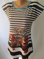 Женские костюмы из трикотажа с полосатой футболкой., фото 1