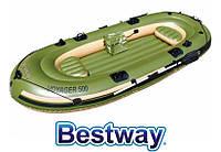 Туристическая надувная лодка Bestway VOYAGER 500, фото 1