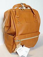 Стильная универсальная сумка рюкзак Himawari 193 коричневая для покупок, для мам, студентам, школьникам, фото 1