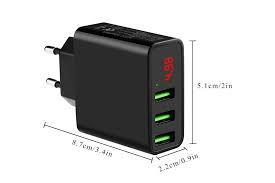 Сетевая USB-зарядка на 3 порта (ток 3 ампера)